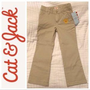 🍎 🆕 Cat & Jack Girls Uniform Khaki Pants